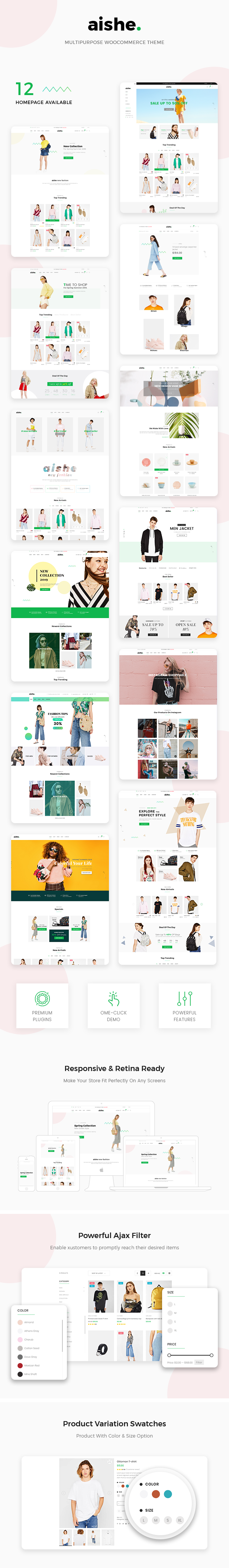 Aishe - Multipurpose WooCommerce Theme - 1